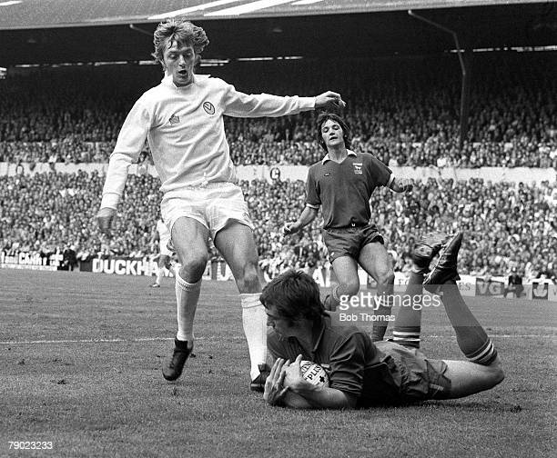 Sport Football England 23rd August 1975 League Division One Leeds United 1 v Ipswich Town 0 Leeds United striker Allan Clarke is denied by Ipswich...