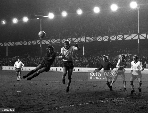 Sport Football England 30th November 1970 FA Cup First Round Second Replay Tranmere Rovers 0 v Scunthorpe United 1 Scunthorpe's Kevin Keegan jumps...