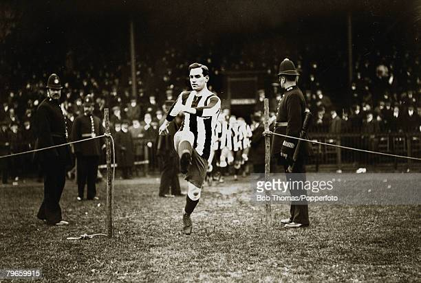 Sport Football England circa 1908 Colin Veitch Newcastle United pictured as the team come on to the pitch He was one of the star players of the...