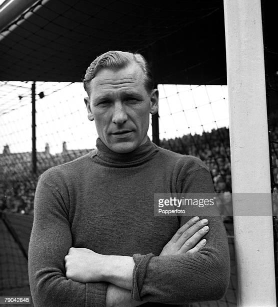 Sport Football England League Division One Manchester City v Sunderland A portrait of Manchester City goalkeeper Bert Trautmann