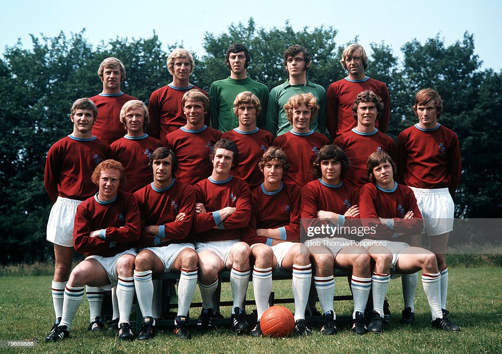 Sport, Football, England The Burnley FC first team squad ...