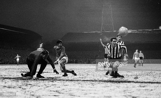 Sport Football English League Division 1 Newcastle United v Manchester United Manchester United 's George best causes problems for the Newcastle...