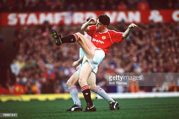 Sport Football English League Division One 1st January 1989 Manchester United 3 v Liverpool 1 United's Lee Sharpe