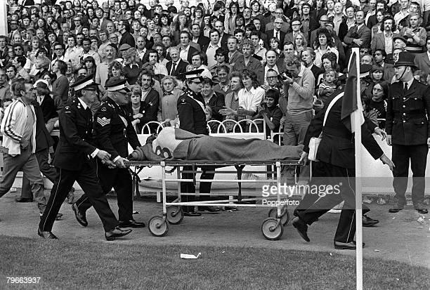Sport Football English League Division One London England 1st September 1973 Tottenham Hotspur 0 v Leeds United 3 Leeds striker Allan Clarke is...