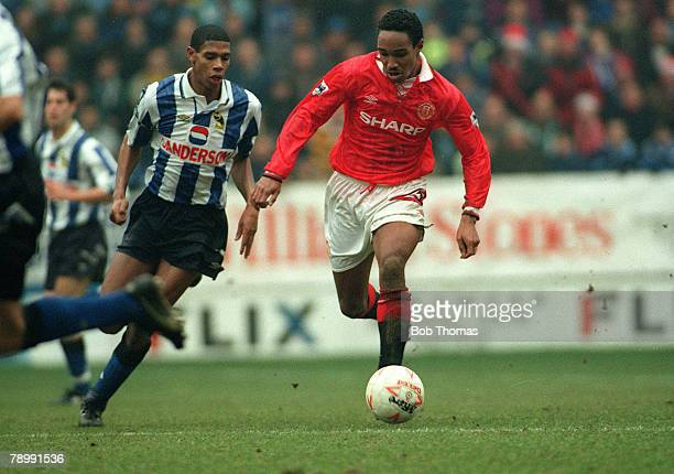 Sport Football English Premier League Sheffield Wednesday 3 v Manchester United 3 26th December 1992 United's Paul Ince challenged by Sheffield...
