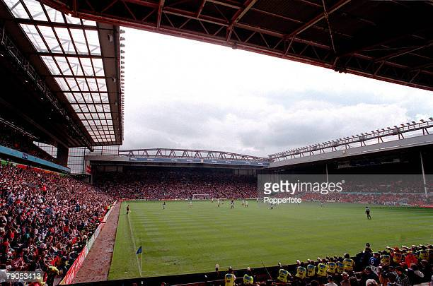Sport Football European Championship 11thJune 1996 Italy 2 v Russia 1 A near fullhouse at Liverpool's Anfield stadium awaits the start of the game