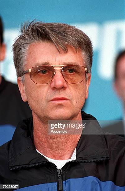 Sport Football European Championship 18th June 1996 France 3 v 1 Bulgaria Aime Jacquet French Coach