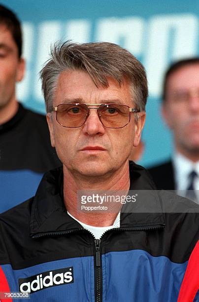 Sport Football European Championship 18th June 1996 France 3 v 1 BulgariaAime Jacquet French Coach