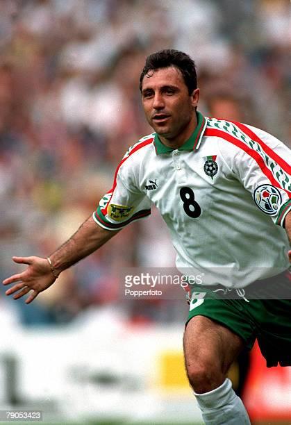 Sport Football European Championship 9thJune 1996 Spain 1 v Bulgaria 1 Bulgaria's Hristo Stoitchkov