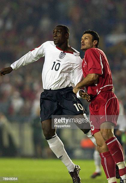 sport football european championship qualifier istanbul 11th october 2003 turkey 0 v england 0 england s emile