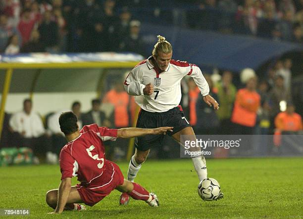 sport football european championship qualifier istanbul 11th october 2003 turkey 0 v england 0 david beckham