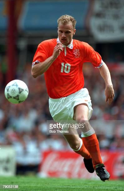 Sport Football European Championships 10th June 1996 Holand 0 v Scotland 0 Dennis Bergkamp in action for Holland
