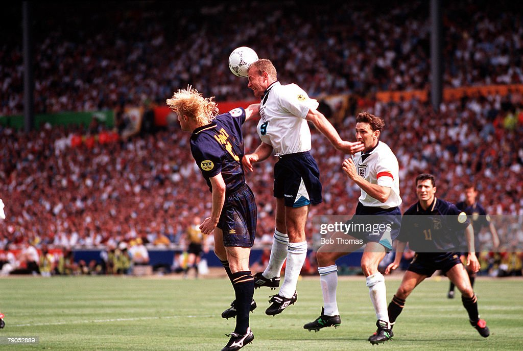 Sport, Football, European Championships, 15th, June 1996, (WEMBLEY), England 2 v 0 Scotland, Alan Shearer in action for England