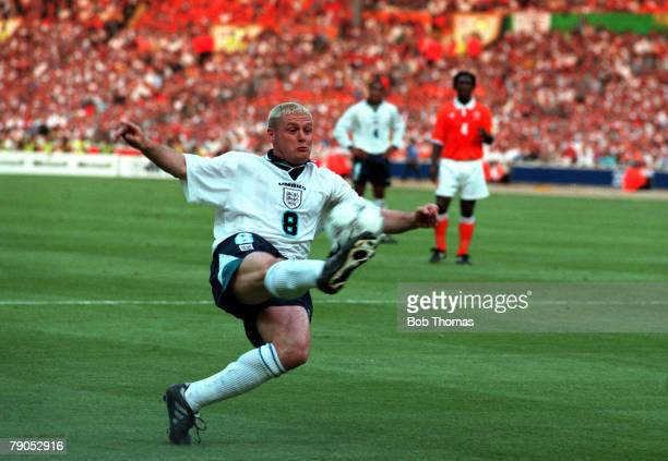 Sport Football European Championships 18th June 1996 England 4 v 1 Holland England's Paul Gascoigne clears the ball