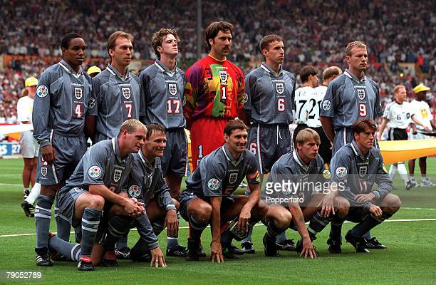 Sport Football European Championships 26th June 1996 Germany beat England 65 on penalties England team group picture