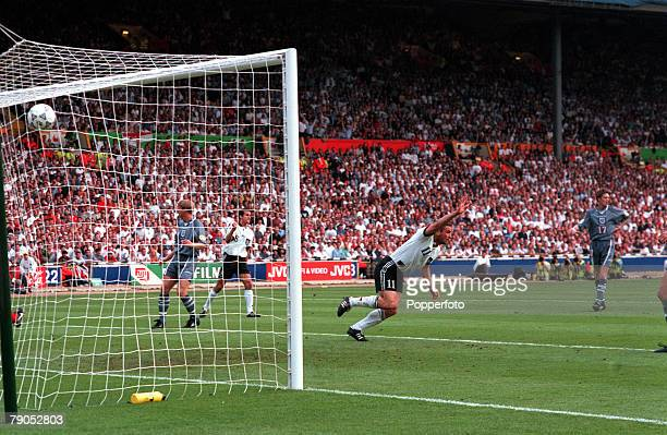 Sport Football European Championships 26th June 1996 Germany beat England 65 on penalties Germany's Stefan Kuntz scores his side's goal