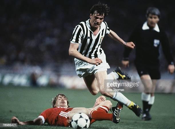 Sport Football European Cup Final Athens 25th May 1983 Hamburg 1 v Juventus 0 Marco Tardelli of Juventus