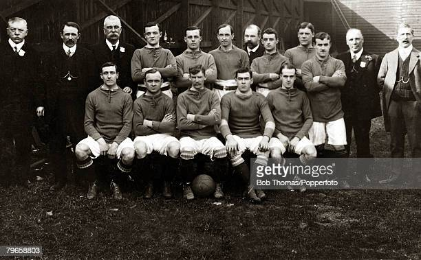 Sport Football Everton Everton were the 1906 English FACup winners beating Newcastle United 10 at Crystal Palace The team was Scott Crelley WBalmer...