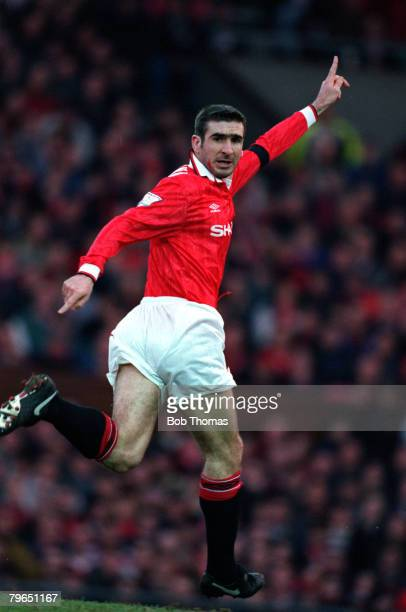 Sport Football FA Carling Premiership 199394 Manchester United's Eric Cantona calls for the ball during a match