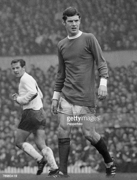 Sport Football FA Charity Shield 12th August 1967 Manchester United 3 v Tottenham Hotspur 3 Brian Kidd of Manchester United