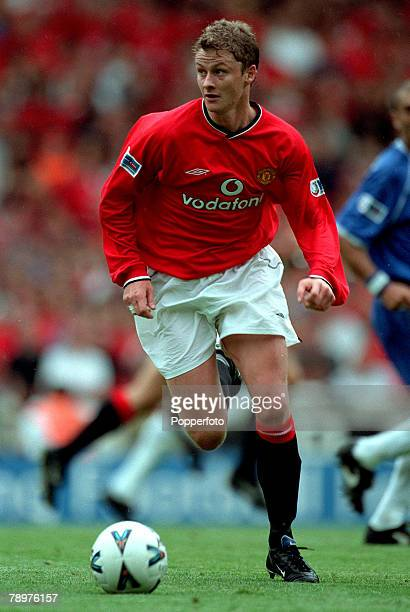 Sport Football FA Charity Shield Wembley13th August Chelsea 2 v Manchester Utd 0Ole Gunnar Solskjaer of Manchester United