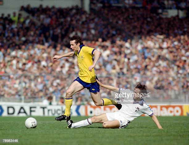 Sport Football FA Cup Final Replay at Wembley pic 10th May 1980 West Ham United 1 v Arsenal 0 Arsenal's Liam Brady is tackled by West Ham United's...