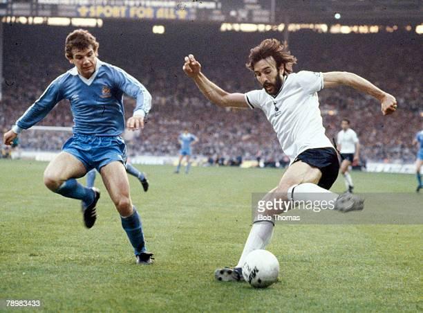 Sport Football FA Cup Final Replay at Wembley pic 14th May 1981Tottenham Hotspur 3 v Manchester City 2 Tottenham Hotspur's Ricky Villa on the ball...