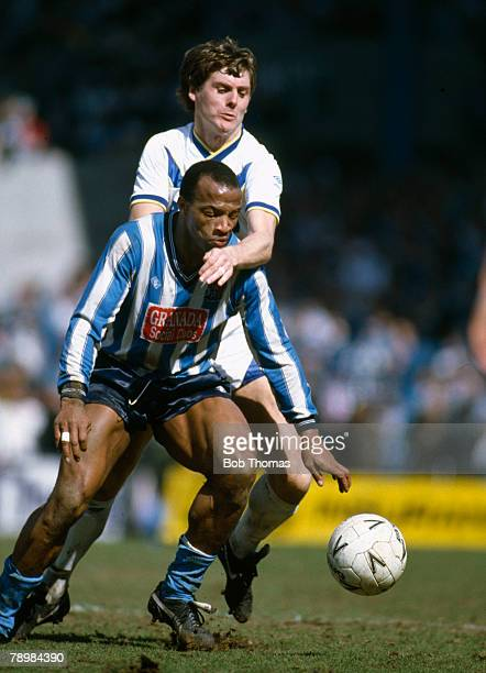 Sport Football FA Cup SemiFinal at Hillsborough Coventry City 3 v Leeds United 2 aet pic 12th April 1987 Coventry City striker Cyrille Regis under...