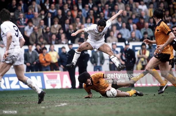 Sport Football FA Cup SemiFinal Hillsborough Sheffield England 11th April 1981 Wolverhampton Wanderers 2 v Tottenham Hotspur 2 Tottenham Hotspur's...