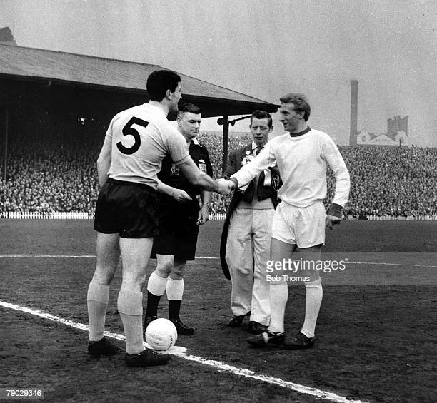 Sport Football FA Cup Sixth Round Old Trafford England 29th February 1964 Manchester United 3 v Sunderland 3 Manchester United Captain Denis Law...