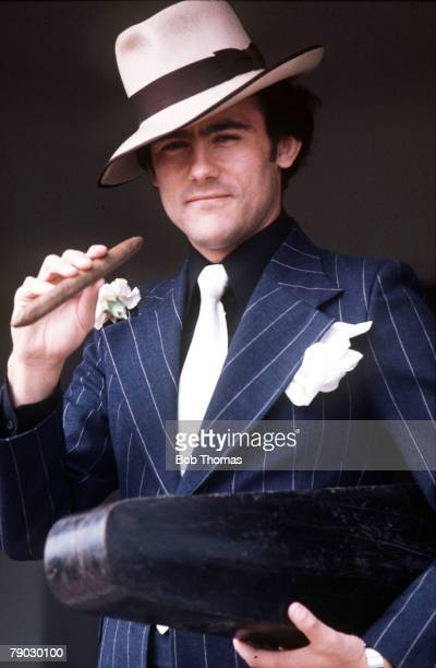 Sport Football Feature 22nd April 1977 Liverpool and England's Ray Kennedy is dressed as a gangster
