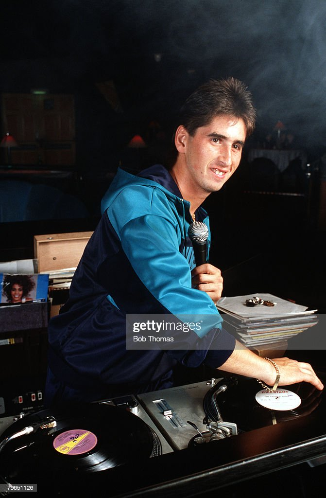 Sport, Football, Feature, England, 25th July 1987, Derby County's Nigel Callaghan who makes personal appearances as a DJ at a Nightclub in Derby : News Photo