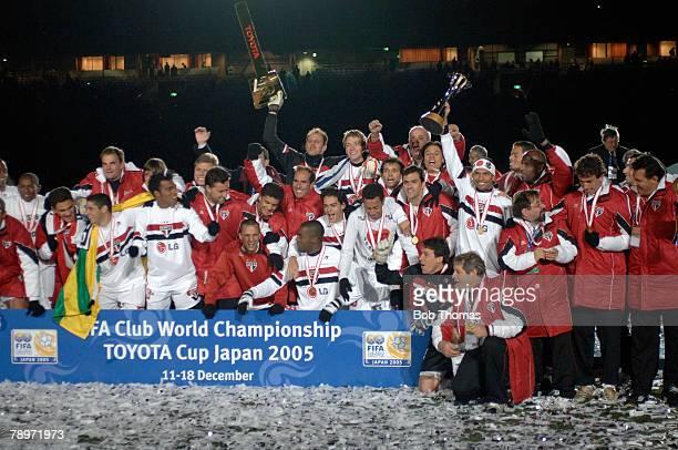 Sport Football FIFA Club World Championship Toyota Cup 2005 Yokohama Japan 18th December 2005 Final Sao Paulo 1 v Liverpool 0 Sao Paulo team...