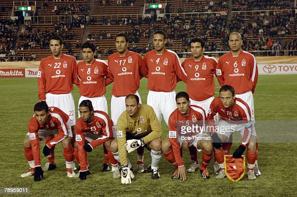 Sport Football FIFA Club World Championship Toyota Cup Japan Tokyo 16th December 2005 Al Ahly 1 v Sydney FC 2 Al Ahly Team Group Players include...