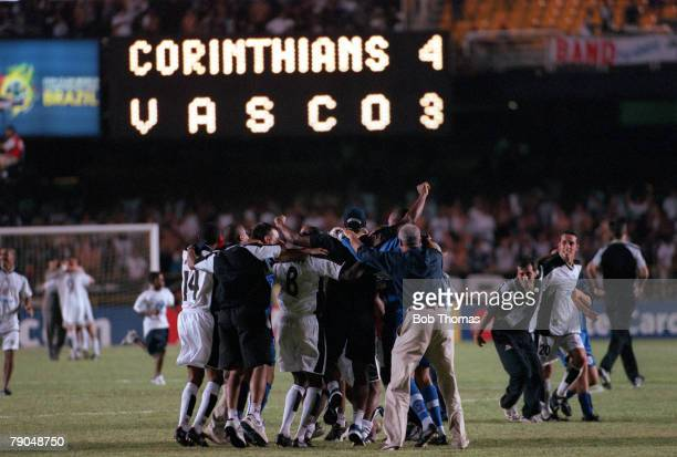 Sport Football FIFA Club World Championships Final Rio De Janeiro Brazil 14th January Corinthians 0 v Vasco Da Gama 0 Corinthians' players celebrate...