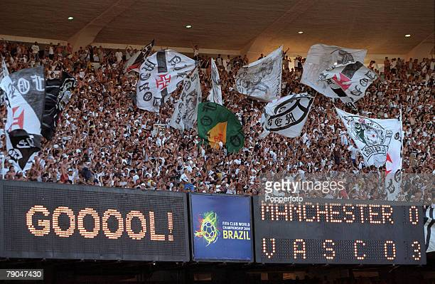 Sport Football FIFA Club World Championships Rio de Janeiro Brazil 8th January 2000 Vasco Da Gama 3 v Manchester United 1 Vasco Da Gama fans...