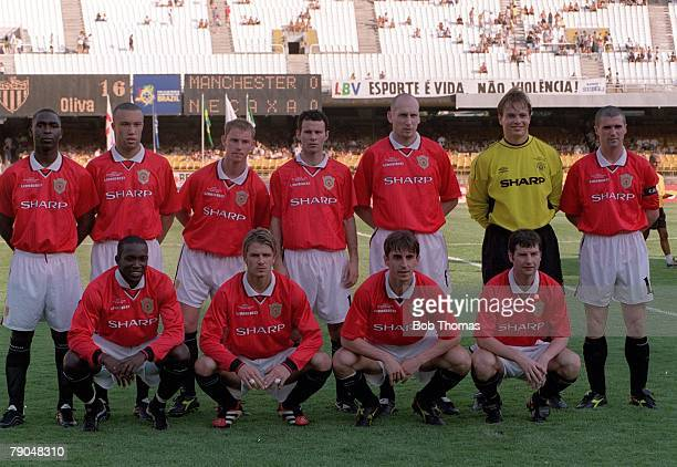 Sport Football FIFA Club World Championships Rio de Janeiro Brazil 6th January 2000 Manchester United 1 v Necaxa 1 Manchester United pose for a team...