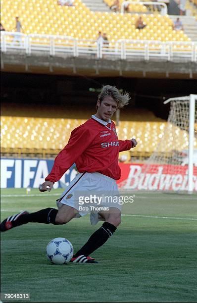 Sport Football FIFA Club World Championships Rio de Janeiro Brazil 6th January 2000 Manchester United 1 v Necaxa 1 Manchester United's David Beckham