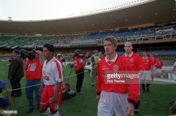 Sport Football FIFA Club World Championships Rio de Janeiro Brazil 6th January 2000 Manchester United 1 v Necaxa 1 Manchester United's David Beckham...