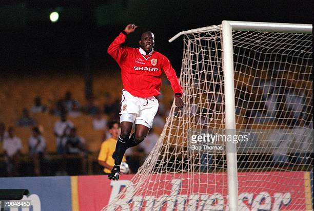 Sport Football FIFA Club World Championships Rio de Janeiro Brazil 6th January 2000 Manchester United 1 v Necaxa 1 Manchester United's Dwight Yorke...
