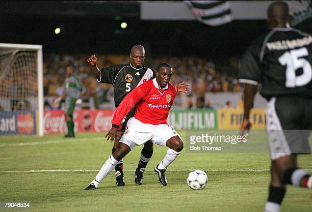 Sport Football FIFA Club World Championships Rio de Janeiro Brazil 8th January 2000 Vasco Da Gama 3 v Manchester United 1 Manchester United's Dwight...