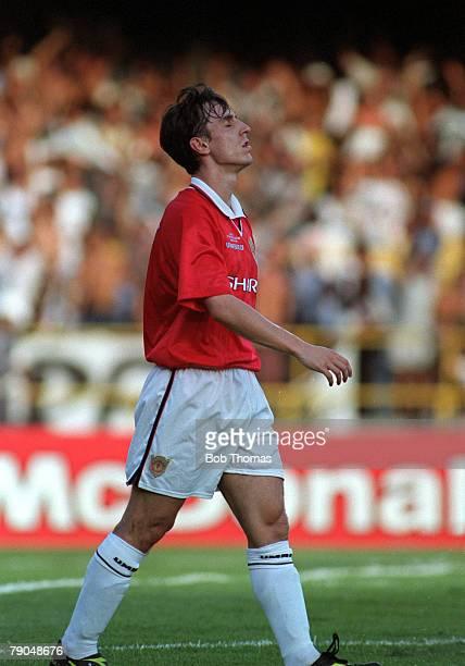 Sport Football FIFA Club World Championships Rio de Janeiro Brazil 8th January 2000 Vasco Da Gama 3 v Manchester United 1 Manchester United's Gary...