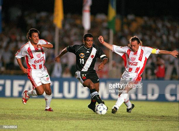 Sport Football FIFA Club World Championships Rio De Janeiro Brazil 11th January Vasco Da Gama 2 v Necaxa 1 Vasco Da Gama's Romario is challenged for...