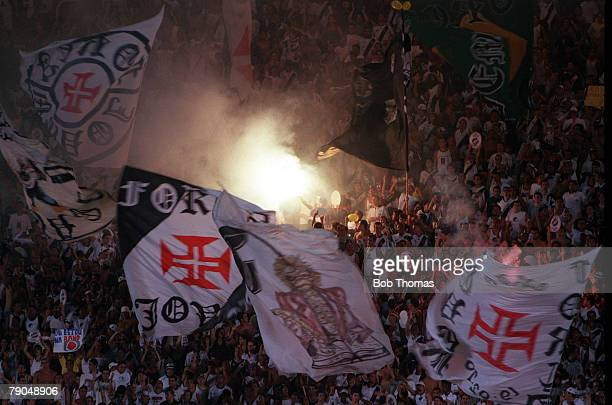 Sport Football FIFA Club World Championships Rio De Janeiro Brazil 11th January Vasco Da Gama 2 v Necaxa 1 Vasco Da Gama fans wave flags and light...