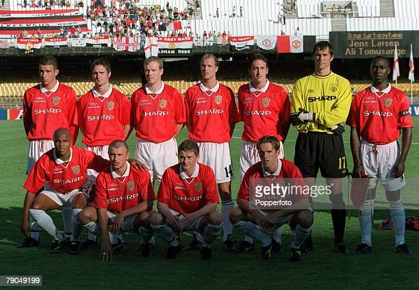 Sport Football FIFA Club World Championships Rio de Janeiro Brazil 11th January 2000 Manchester United 2 v South Melbourne 0 Manchester United pose...