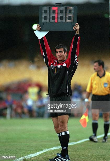 Sport Football FIFA Club World Championships Third Place Match Rio de Janeiro Brazil 14th January 2000 Necaxa 1 v Real Madrid 1 the fourth official...