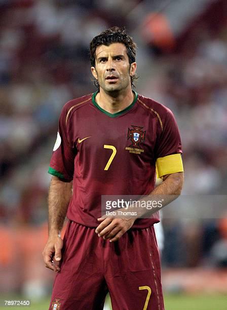 Sport Football FIFA World Cup Cologne 11th June 2006 Angola 0 v Portugal 1 Luis Figo Portugal captain