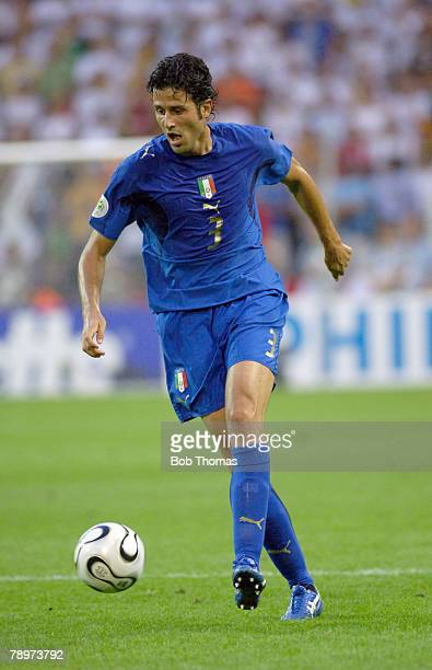 Sport Football FIFA World Cup Dortmund 4th July 2006 Semi Final Germany 0 v Italy 2 Fabio Grosso Italy