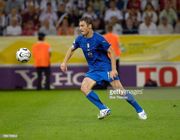 Sport Football FIFA World Cup Dortmund 4th July 2006 Semi Final Germany 0 v Italy 2 Francesco Totti Italy
