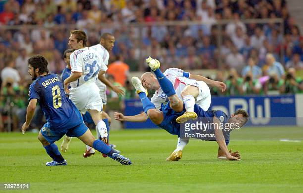 Sport Football FIFA World Cup Final Berlin 9th July 2006 Italy 1 v France 1 Italy won 53 on Penalties France's Zinedine Zidane clashes with Italy's...